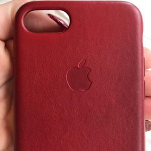 Accessories - Red leather iPhone 8 case.